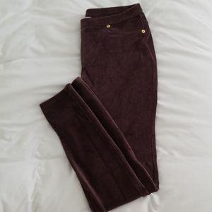Michael Kors - Corduroy Eggplant Leggings/Pants